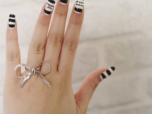 I can't decide which one I like better, the ring or the nails..