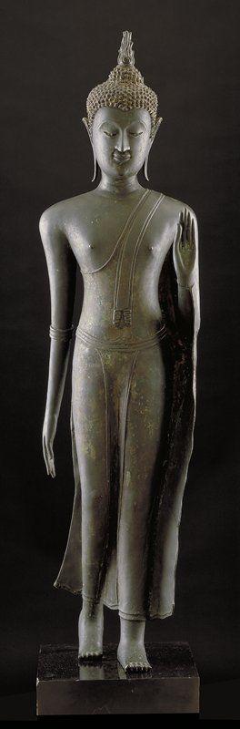 .Walking Buddha |  Artist Unknown (Thailand, Asia), 15th century