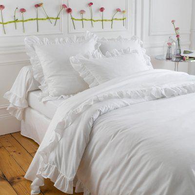 housse de couette frou frou blanc linges de maison. Black Bedroom Furniture Sets. Home Design Ideas