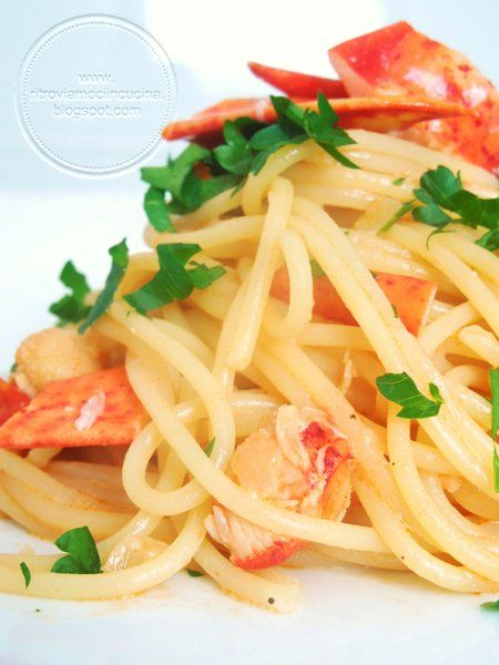 Lobster spaghetti | LOBSTER TRAP | Pinterest