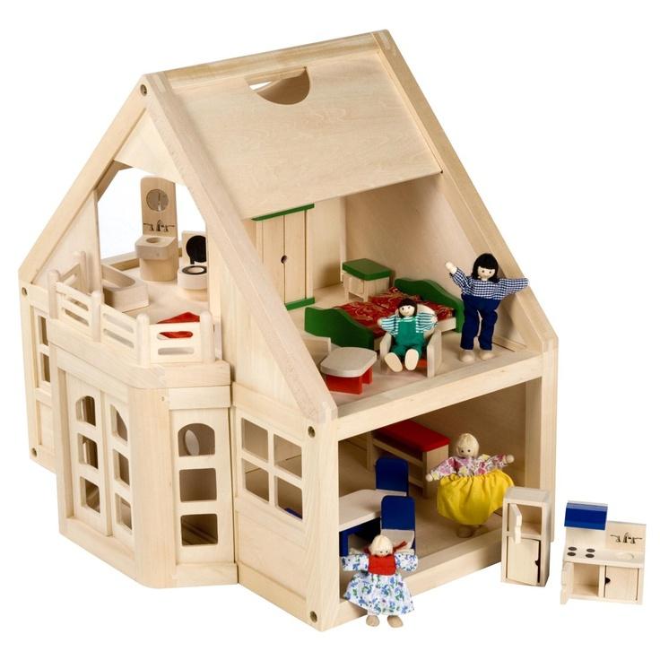Melissa And Doug Furnished Wooden Dollhouse Kit Dollhouses At Hayneedle