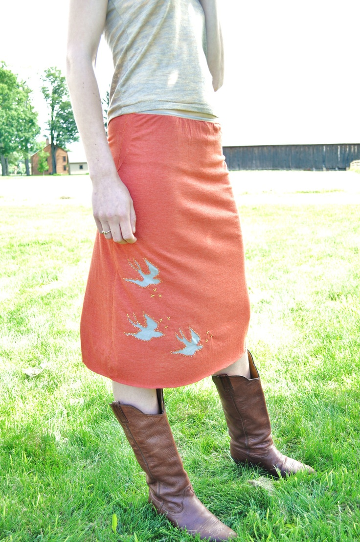 Reverse Applique Skirt- S/M. $45.00, via Etsy.