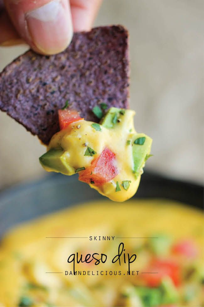 Skinny Queso Dip ~ An amazingly cheesy and creamy dip that you can ...