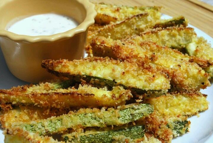 Baked zucchini fries | Favorite Recipes | Pinterest