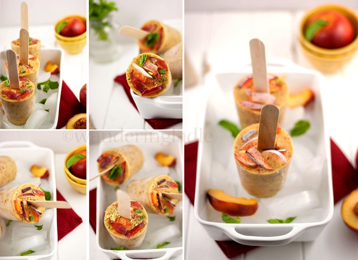... Gluten-Free Dairy-Free Vegan } Nectarine pops with Mint and Pistachios