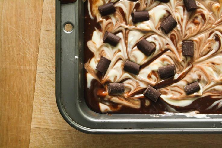 Cheesecake-Marbled Brownies | Sweet delicious brownies | Pinterest