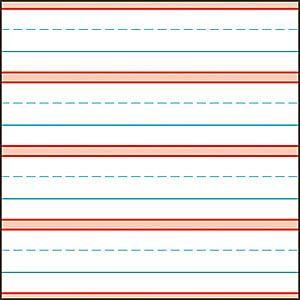 Raised line writing paper