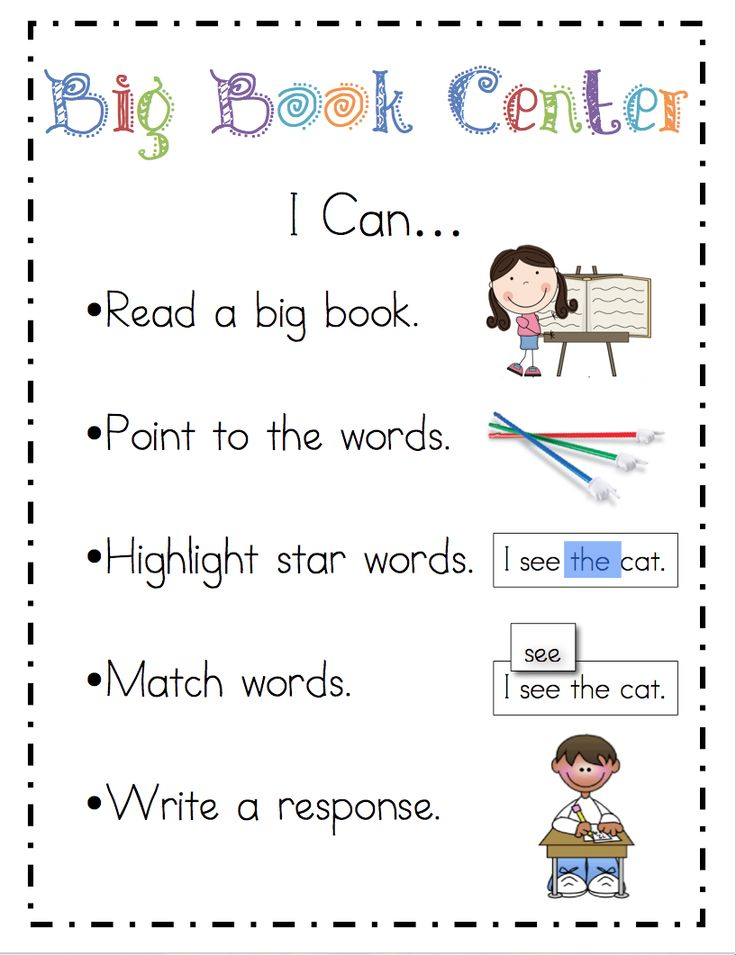 """Literacy Center """"I Can"""" activity posters and other great stuff"""