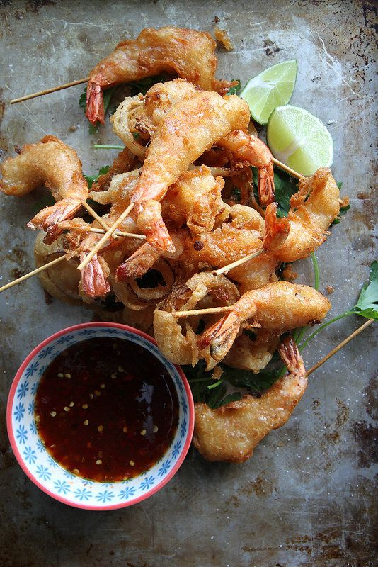 Fried Shrimp with Soy Chili Apricot Dipping Sauce | food | Pinterest