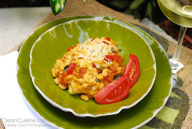White Bean Butternut Squash Ragout & Polenta Squares. (clean cuisine ...