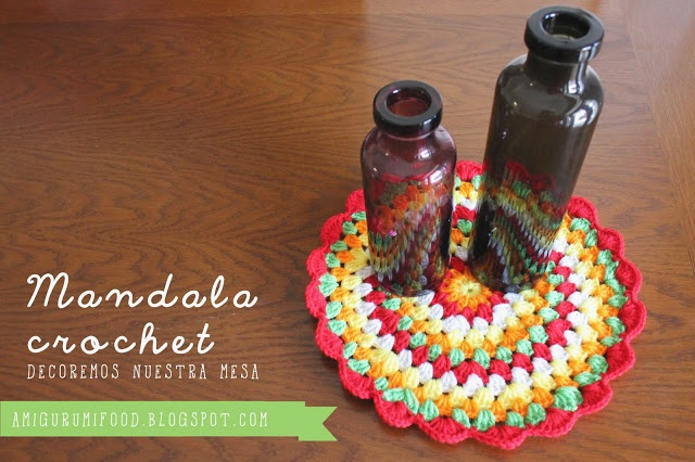 Amigurumi Food: Mandala Crochet Free Pattern!