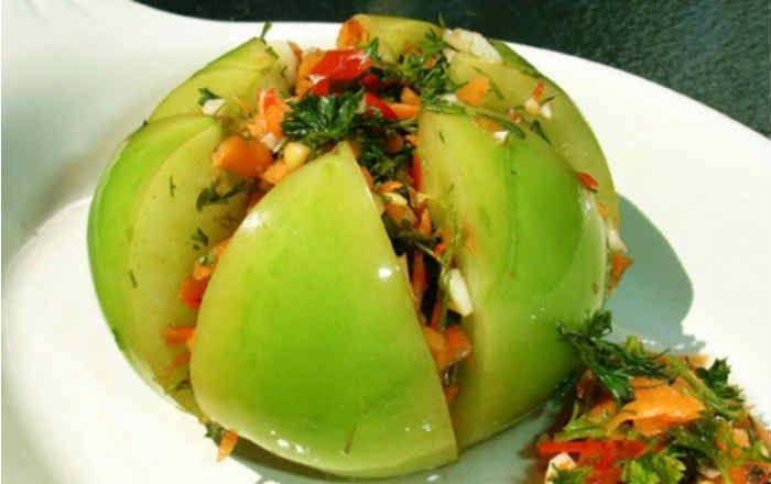 Рецепт зеленых помидор с пошаговым фото шаговым фото