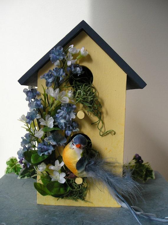 indoor decorative handpainted birdhouse birdhouses 2. Black Bedroom Furniture Sets. Home Design Ideas