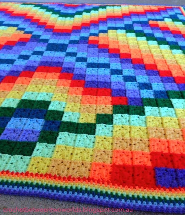 All Double Crochet Afghan Kristine In Between Satukisfo