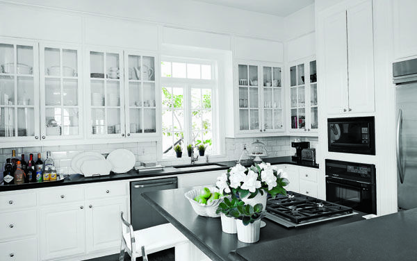 Row Of Glass Front Cabinets Kitchen Ideas Pinterest