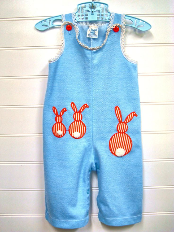 vintage baby clothes baby cotton overalls in light