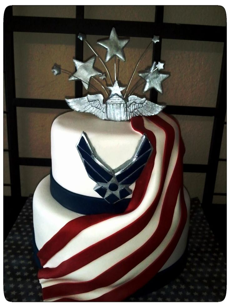 Air force cake patriotic things pinterest for Air force cakes decoration
