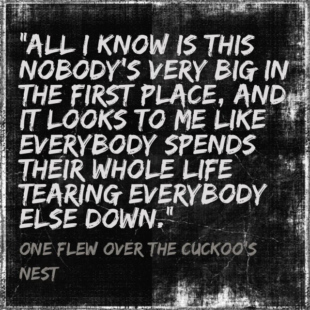 a report on one flew over the cuckoos nest a novel by ken kesey Introduction ken kesey's, one flew over the cuckoo's nest is a creation of  click report to  similar documents to analytical essay- one flew over the cuckoos.