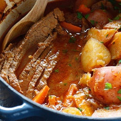 Braised Brisket with Potatoes and Carrots — Punchfork