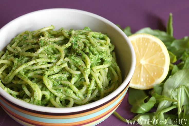 Creamy avocado and rocket pasta - Amuse Your Bouche