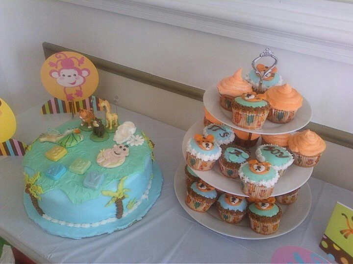 zoo animal 39 s theme baby shower cakes party helper pinterest