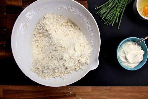 Feta and Chive Sour Cream Scone | Bon appétit! | Pinterest