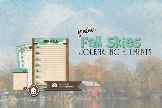 Free Printable Download    Fall Skies Journaling Elements
