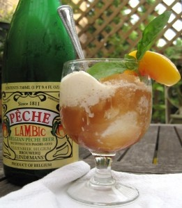 Peach Lambic Float...ooo! I LOVE lambic! | Sounds tasty! | Pinterest