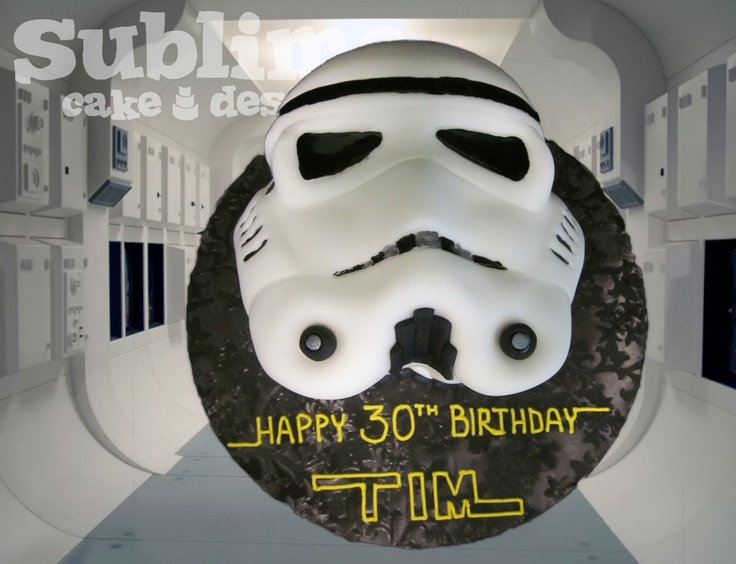 Stormtrooper Star Wars Cake   www.SublimeCakeDesign.com