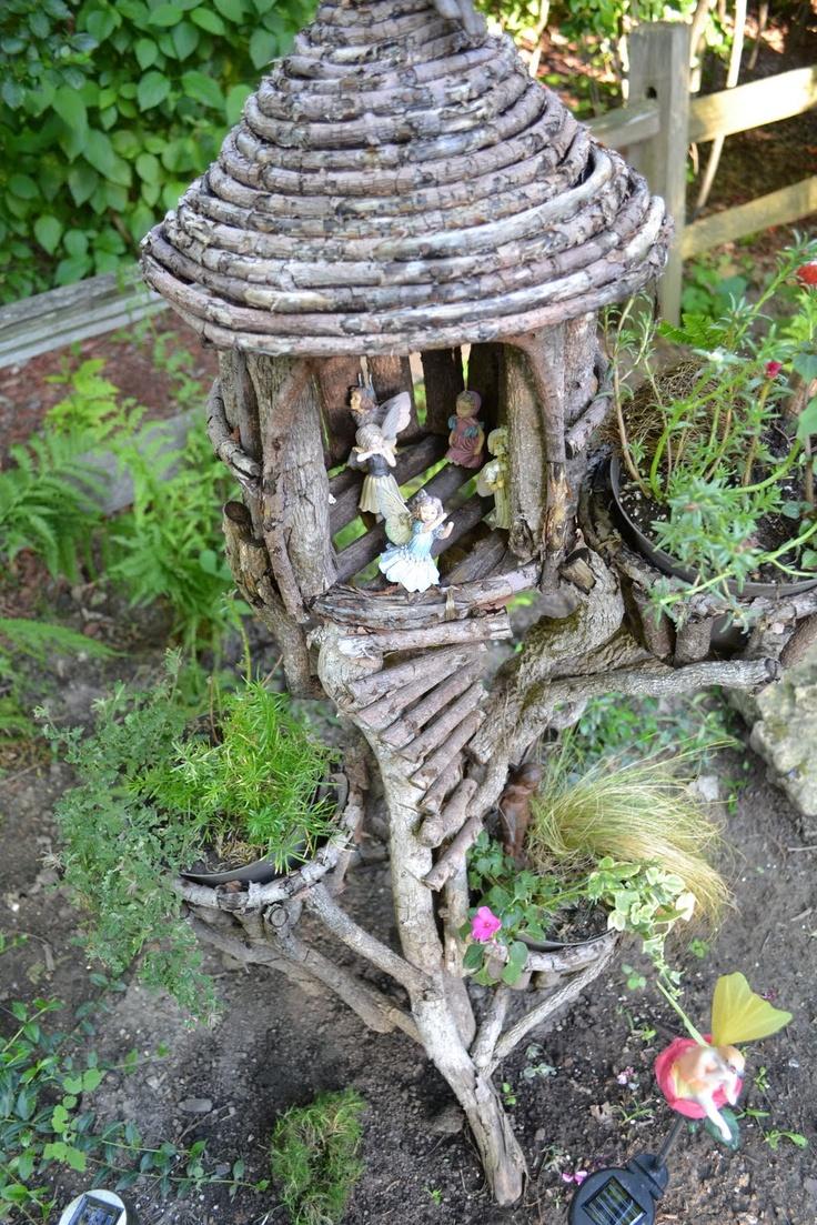 Natural Fairy House Fairy Garden Pinterest