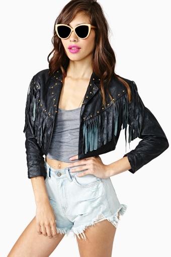 Culprit Fringe Leather Jacket