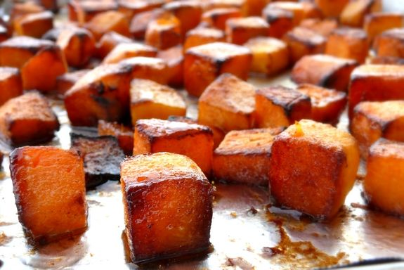 Roasted Brown Sugar-Five Spice Butternut Squash or sweet potatoes!