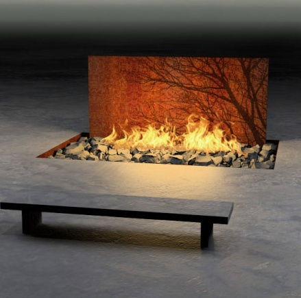 Elena Colombo Construction Tree Fire Pit Outdoor Fire