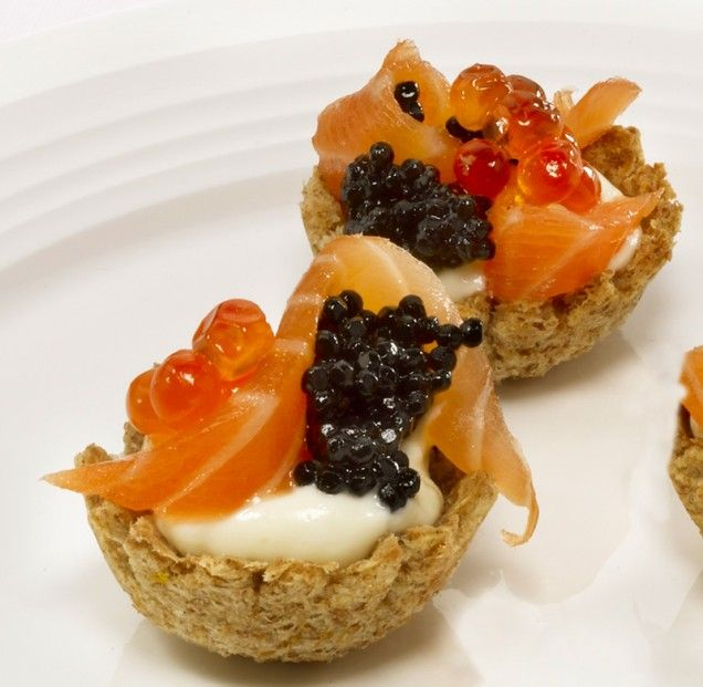 Rich Smoked Salmon Croustades Recipe — Dishmaps