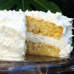 Pineapple Layer Cake - glorified box mix cake