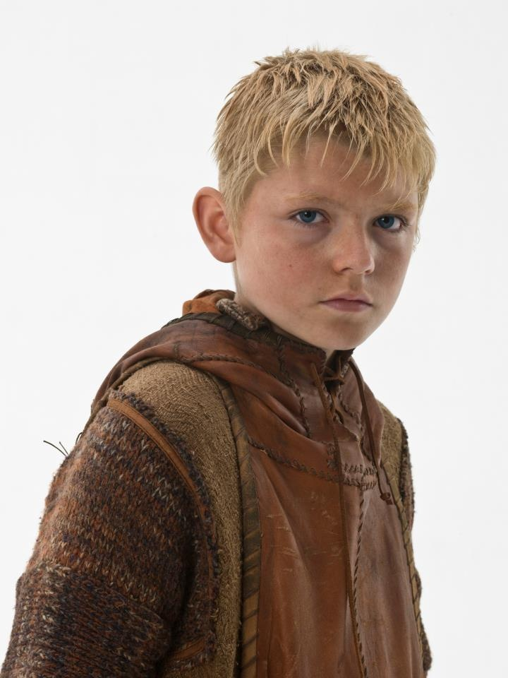 Ragnar's son, Bjorn who grew up to be Bjorn Ironside, king of Sweden.