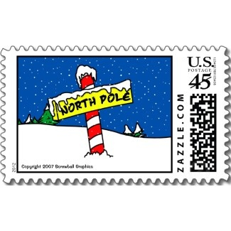 North Pole Postage Stamp stamp | Holiday :: Christmas | Pinterest