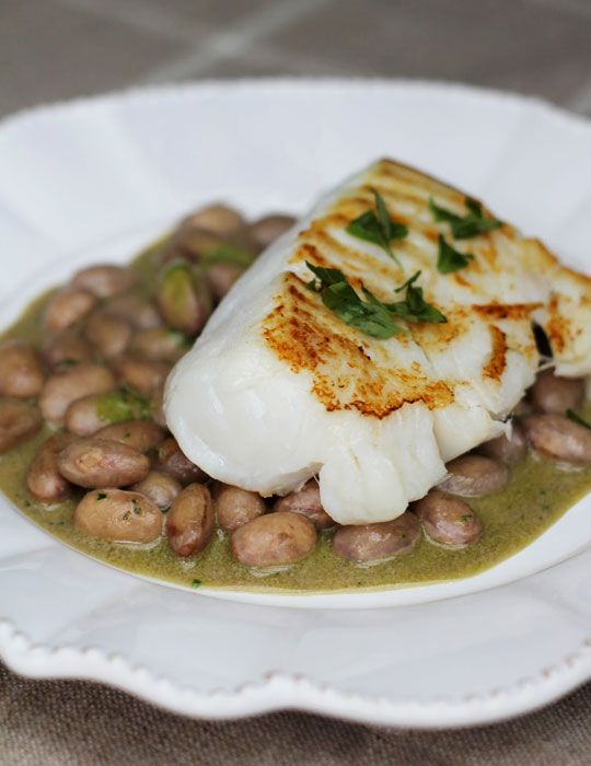 Cod fish and white beans recipe seafood fish recipes for How to cook cod fish in a pan