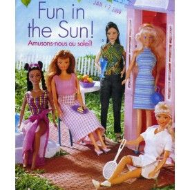Barbie Doll Summer Clothes Swimsuit Tennis Butterick 6110