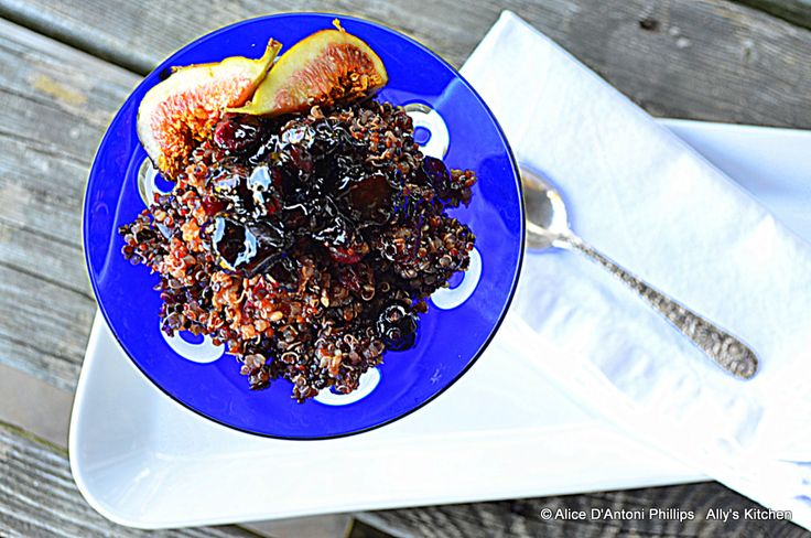 Cranberry Fig Basil Quinoa' Smothered with goodness! www.allyskitchen ...