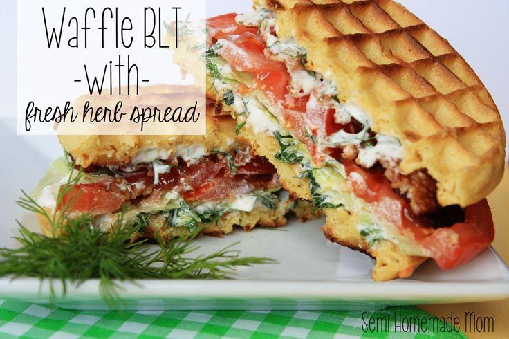 Waffle BLT with Fresh Herb Spread