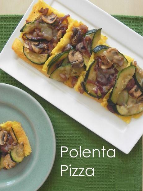 Polenta Pizza with Cajun-Spiced Mushrooms and Zucchini {Via Voracious ...