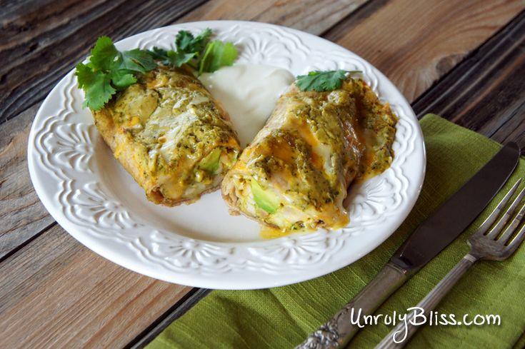 Chicken Avocado Enchiladas - SOOO DAMN GOOD! (I actually made these ...