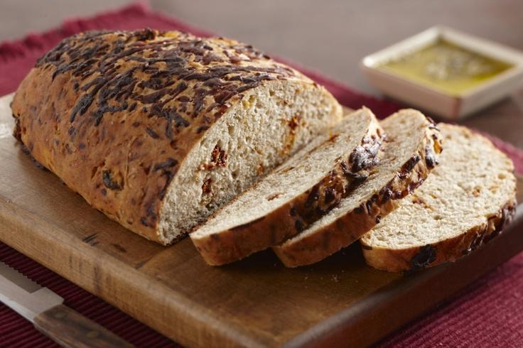 Parmesan & Sundried Tomato Bread | Bread Basket~ | Pinterest