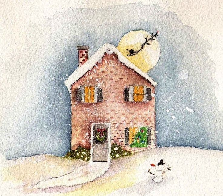 Cute winter house | Baby, It's Cold Outside! | Pinterest: pinterest.com/pin/263742121901552477