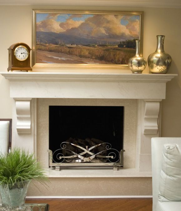 fireplace mantel corbels architectural detail