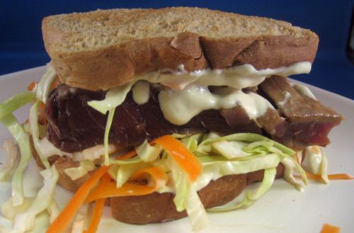 Ahi Tuna Sandwich with wasabi-ginger mayo...at Gott's Roadside...Yum ...