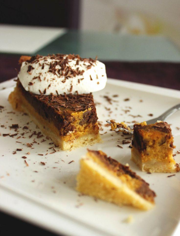 Pumpkin chocolate pie | my work | Pinterest