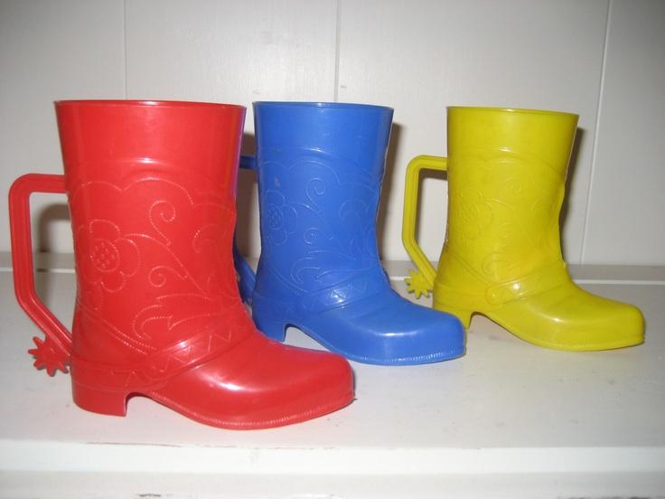 Plastic Cowboy Boot Mugs