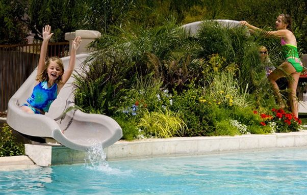 Swimming pool slides cheap decorating the home large - How to make a cheap swimming pool ...